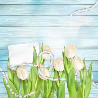Mazzo di bei tulipani.