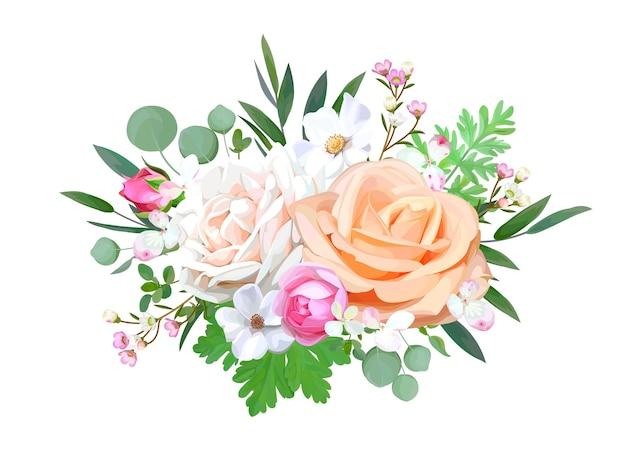 Bouquet per biglietti di auguri decorativi