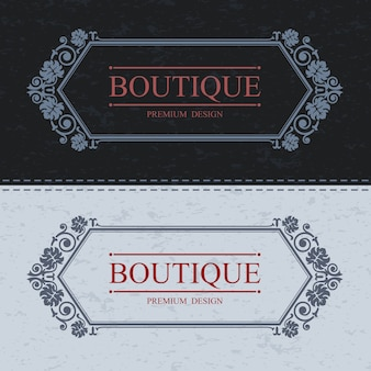 Bordo calligrafico boutique