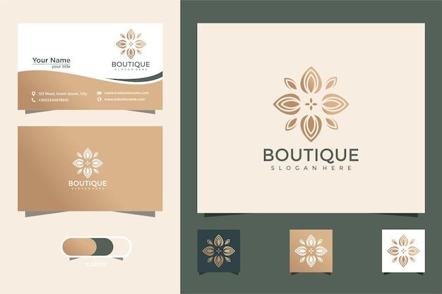 Boutique minimalista linea arte astrattaelegante modello monogrammaelegantebiglietto da visita