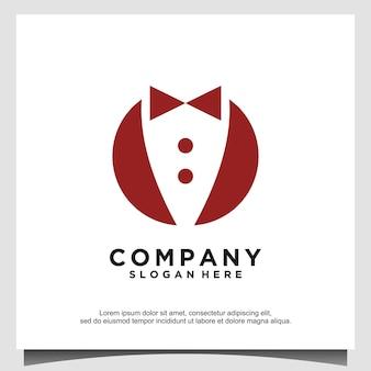 Papillon tuxedo suit gentleman fashion tailor clothes vintage classic logo design