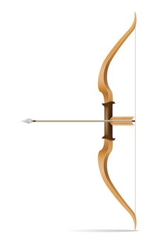 Arco con frecce per il tiro