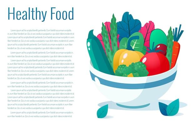 Ciotola piena di verdure. concetto di stile di vita sano. mangiare sano.
