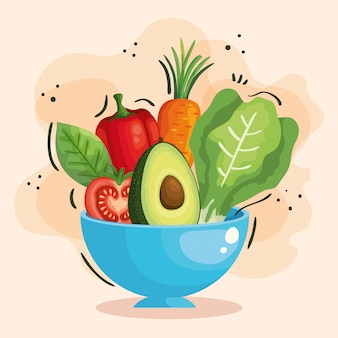 Ciotola con verdure fresche e sane