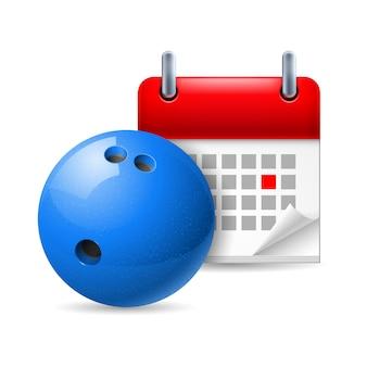 Palla da bowling e calendario