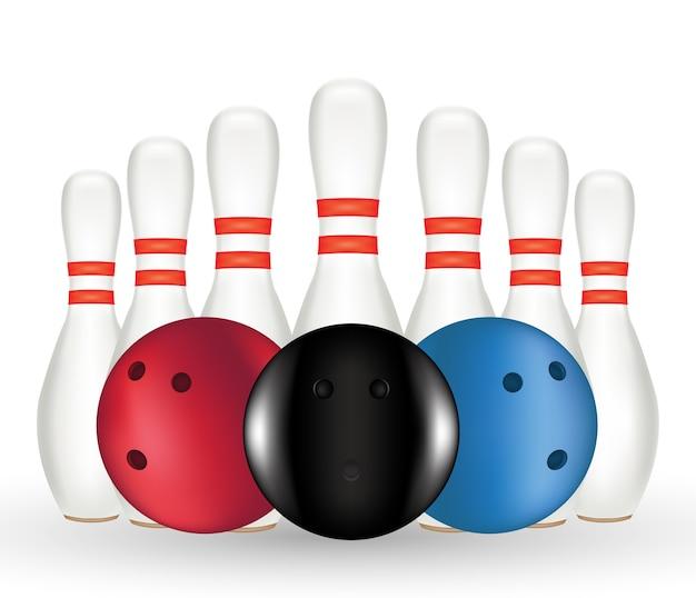 Un perno bowling e bowling