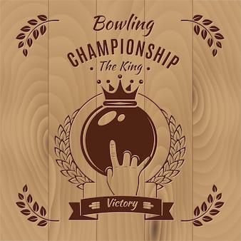 Stile vintage campionato di bowling