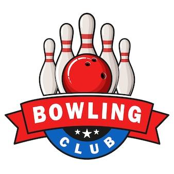 Distintivo del logo del club di bowling