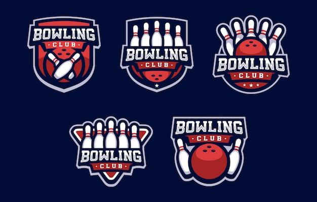 Logo sportivo del bowling club