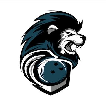 Logo della squadra di bowling lion