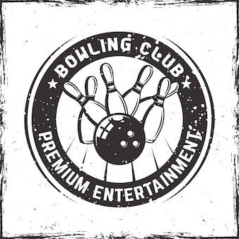 Distintivo di bowling rounde in stile vintage
