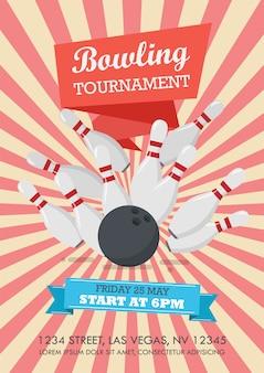 Manifesto del torneo di bowling
