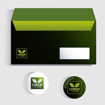 Box, modello di identità aziendale su bianco