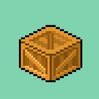 Cassa scatola con stile pixel art