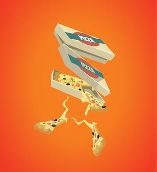 Scatola di pizza fast food