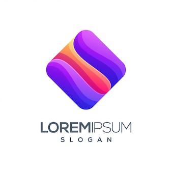 Box ispirazione gradiente colore logo design