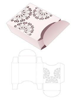 Scatola e coperchio con modello fustellato di mandala stampato