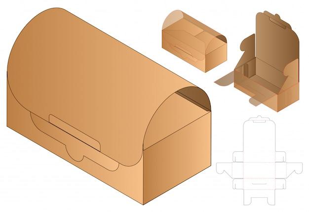 Modello fustellato confezione imballo. 3d