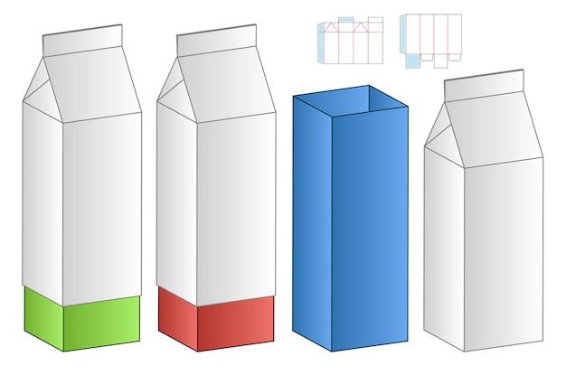 Mockup 3d di progettazione del modello fustellato di imballaggio della scatola