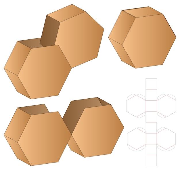 Confezione da scatola modello fustellato design. 3d