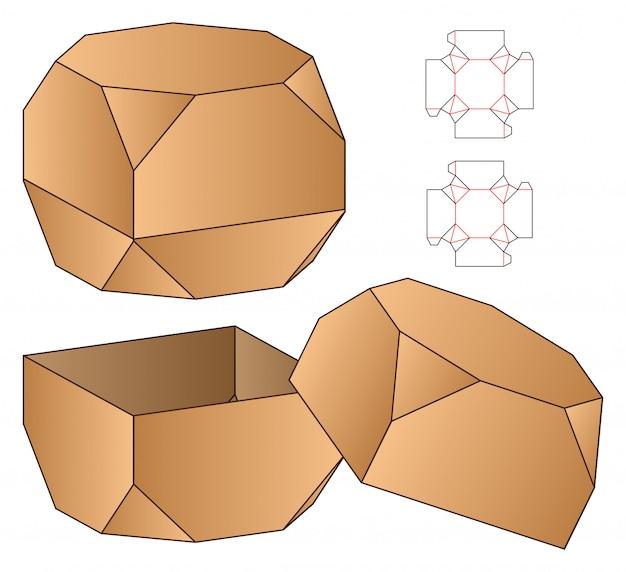 Confezione di scatole fustellate modello di progettazione.