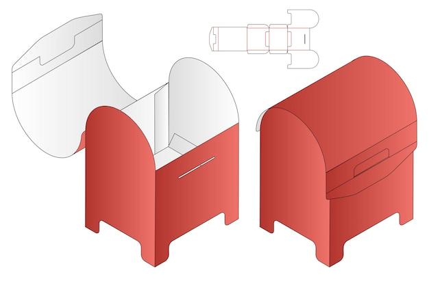Confezione da scatola modello fustellato design