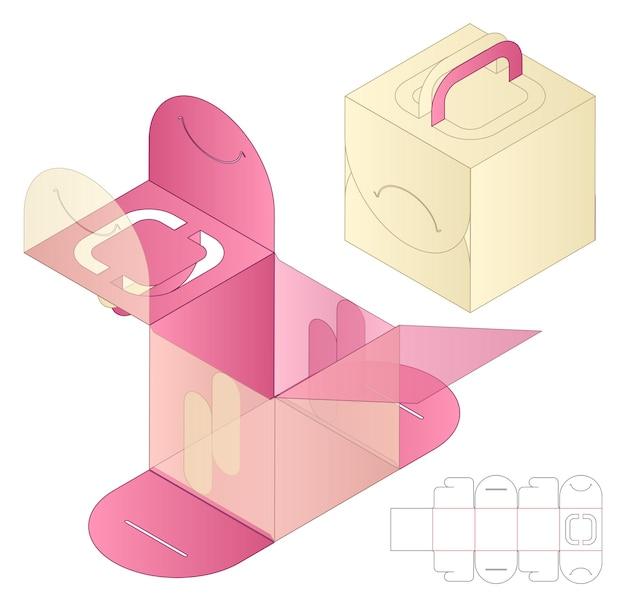Scatola di imballaggio fustellato modello di progettazione