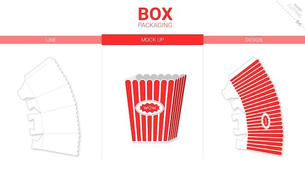 Confezione scatola modello fustellato pop corn