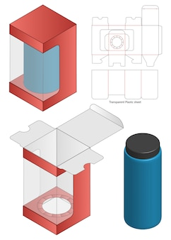 Modello fustellato di imballaggio della scatola