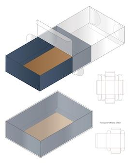 Illustrazione di progettazione del modello dieline di imballaggio della scatola