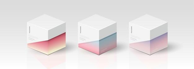 Scatola, modello di imballaggio per il disegno vettoriale del prodotto, illustrazione vettoriale