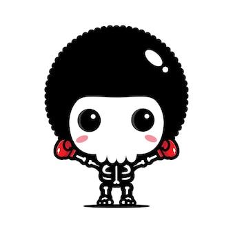 Design del personaggio del cranio del pugile