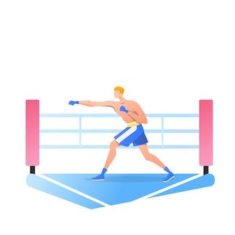 Atleti di boxe isolati su bianco