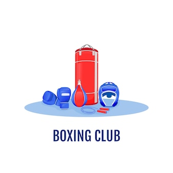 Illustrazione di concetto piatto club di boxe