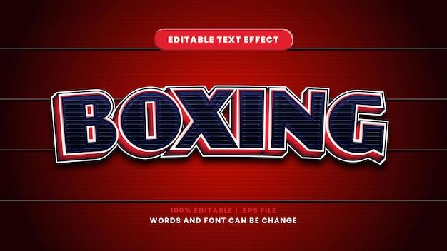 Effetto di testo modificabile di boxe in moderno stile 3d