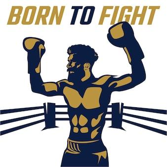 Illustrazione del combattente di boxe