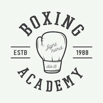 Guantoni da boxe in stile vintage. illustrazione vettoriale