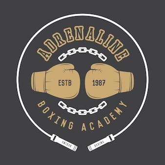 Logo di boxe e arti marziali