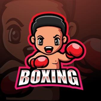 Illustrazione di esportazione boxe mascotte