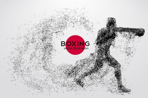 Boxe, silhouette di un pugile