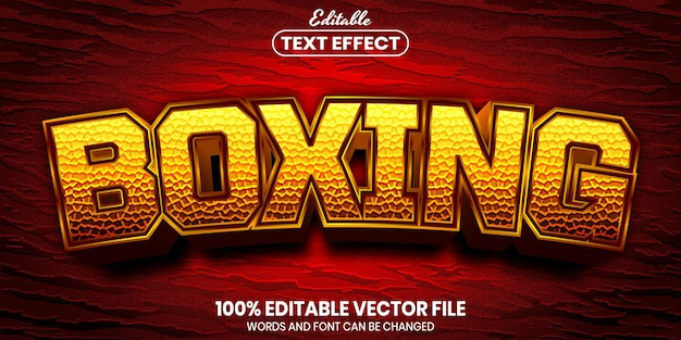 Testo boxe, effetto testo modificabile in stile carattere