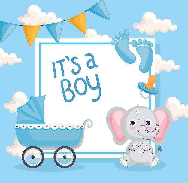Ragazzo baby shower card