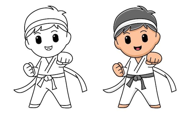 Ragazzo karate da colorare per bambini