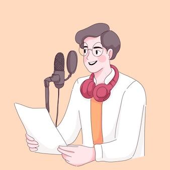 Podcast ragazzo. giornata mondiale della radio. podcast in diretta streaming.