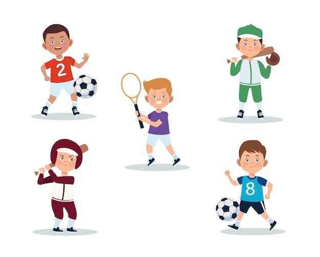 Set di attività per bambini maschi