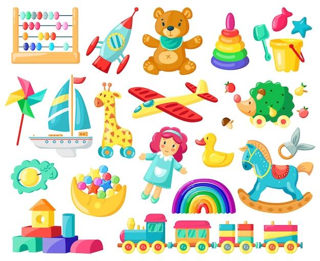 Inventario di ragazzi e ragazze per il gioco dei bambini