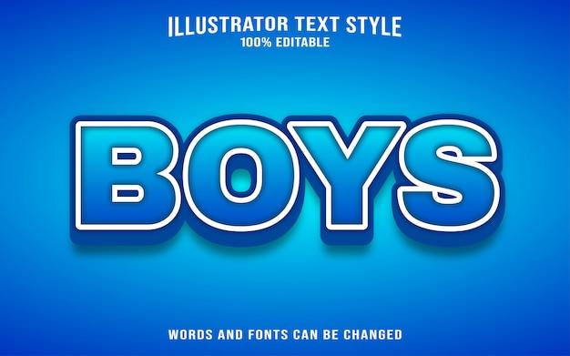 Stile di testo per ragazzi