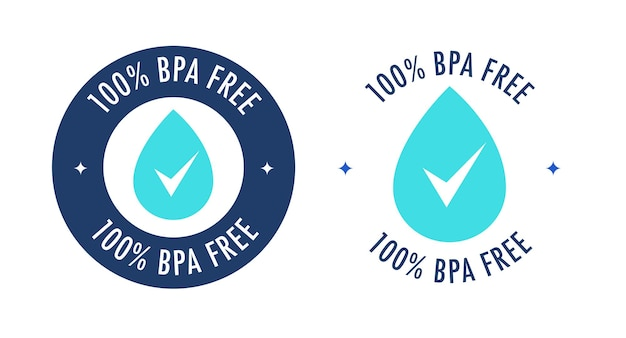 Etichetta di vettore libero bpa con waterdrop per plastica non tossica bottiglia di acqua potabile imballaggio plastica