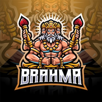 Brahma esport mascotte logo design