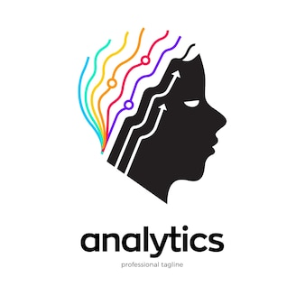 Design del logo di analisi del cervello